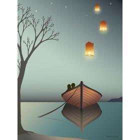 Vissevasse The Lantern 30x40cm Plakater