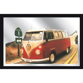 Retro Spejl M/ Motiv - VW VAN - Str. 32 x 22 cm