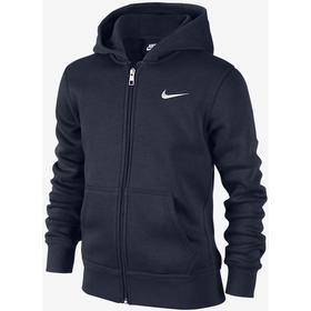 Nike Brushed Fleece Full-Zip - Obsidian   White (619069 451) c7ef1bc772d90