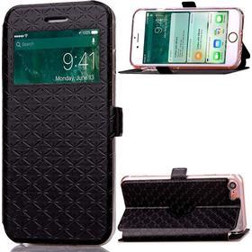 Diamond Lozenge fönsterfodral till iPhone 7/8 - Svart