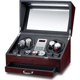 Rothenschild ur winder med plads til 4 automatik ure og 7 almindelige, brun