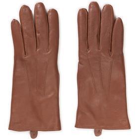 MJM Glove Angelina w Leather Black - Cognac