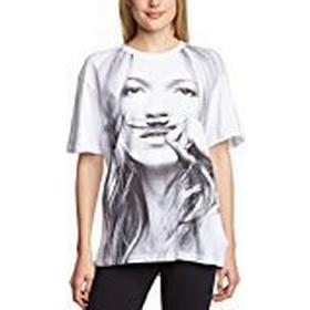 Eleven Paris Women's Mokat 14F2LT077 Short Sleeve T-Shirt, White, UK 8 (Manufacturer Size:Small)