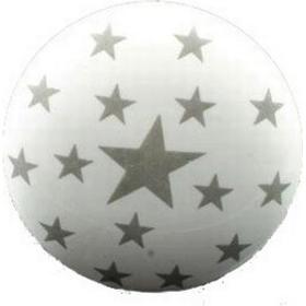La Finesse Knopp i porslin - vit med små grå stjärnor