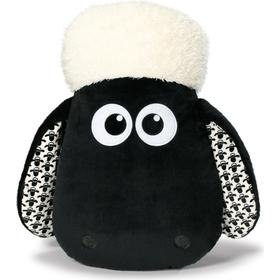 NICI Plush Pillow Shaun the Sheep Head with Patterned Ears