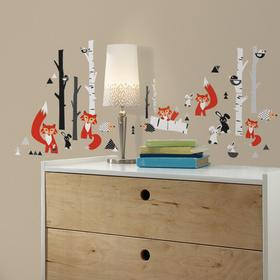 RoomMates Fox Forest Peel and Stick Wall Decals