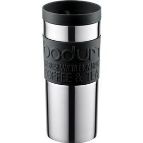 Bodum Rejsekrus plastik med klik låg, Sort Rejsekrus 35 cl