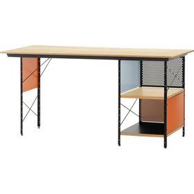 Eames Unit EDU skrivbord - björk, svart stativ