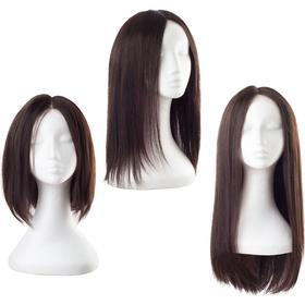 Rapunzel® Original - Peruk Lace Peruk - Äkta hår Dark Brown 30 cm Brun
