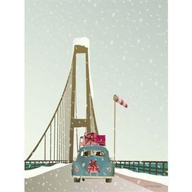 Vissevasse Driving Home For Christmas 30x40cm Plakater