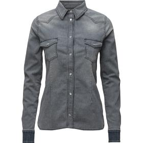 Hunkydory Western Anna Shirt - Denim/Ecru Stripe