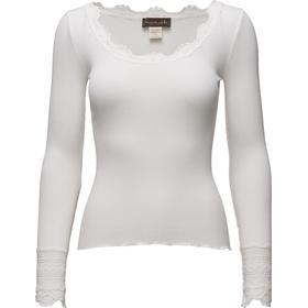 Rosemunde Silk T-Shirt Regular LS W/Wide Lace - New White