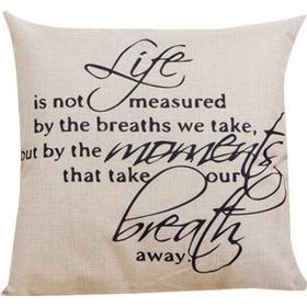 Sammydress Famous Proverb Home Decor Square Linen Throw Pillowcase