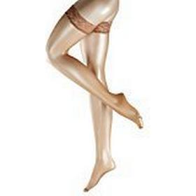 FALKE Women's Shelina 12 DEN Toeless 10 DEN Hold-up Stockings, Yellow (Sun 4299), 9.5/10.5 (Manufacturer size: 9.5 - 10)
