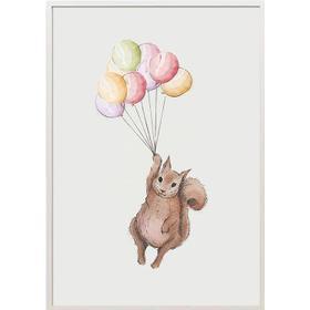 Bumlebee Friends Squirrel Poster