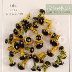 Go Handmade - Säkerhetsögon - Gul