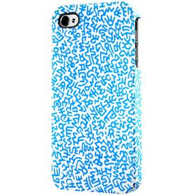 CASE SCENARIO Keith Haring iPhone 4/4S Rubber Case, Graffiti pattern blue