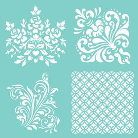 Kaisercraft Template 12X12 - Damask Quarters