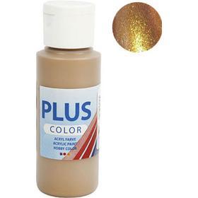 Plus Acrylic Paint 60ml Metallic Antique Gold
