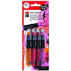 Marabu Art Crayon Lovely Red 4-pack
