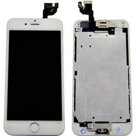 Apple iPhone 6 komplett skärm med smådelar - Vit