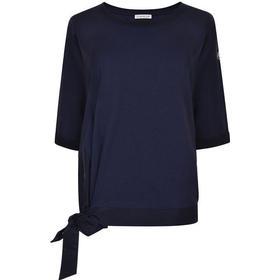 MONCLER Tie Hem Sweatshirt Navy