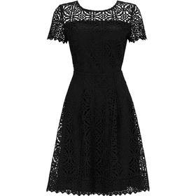 Wallis Crochet Lace Dress Black