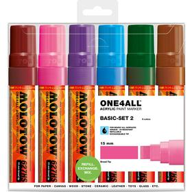 Molotow One4All 15mm Basic Set 2 Marker 6-pack