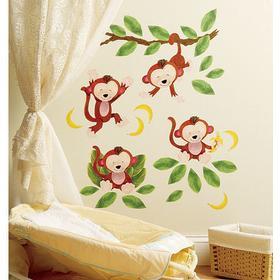 Wallies Baby Monkeys Vinyl Decals