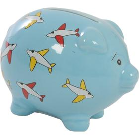 Suki Bright Banks Aeroplane Piggy Bank