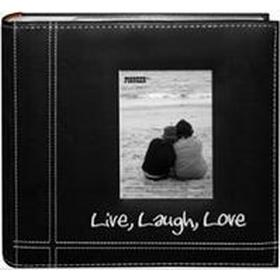 Pioneer Embroidered Stitched Leatherette Postbound Album 9 X 9