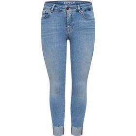 Only Carmen Reg Cropped Skinny Fit Jeans Blue/Light Blue Denim