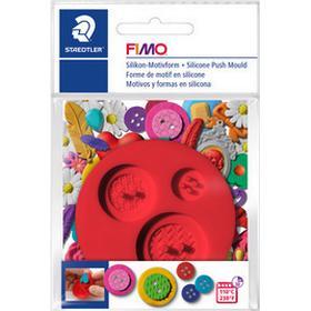 Fimo Plastic Pushmold 3 Buttons Motifs