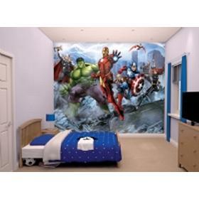 Avengers The Avengers tapet - Walltastic Avengers 3D børnetapet 43848