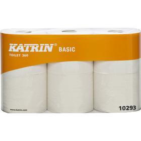 Katrin Katrin Basic Toilet 360 toalettpapper, 50,4 m, 2 lager, naturvit