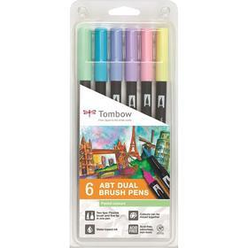 Tombow ABT Dual Brush Pastel Pens 6-pack