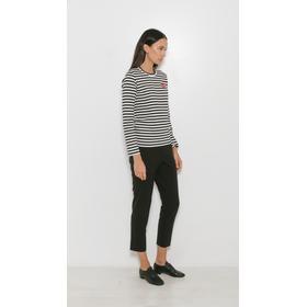 Comme des Garçons Play Striped Long Sleeve Black/White
