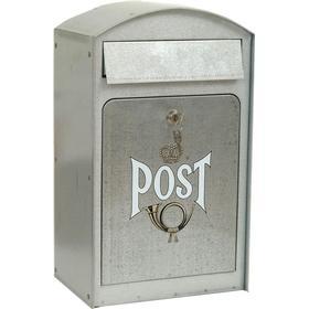 Lidab Postlåda med låsbar front, galvaniserad