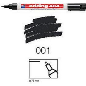 Edding 404 Marker 0.75mm Round Tip Black