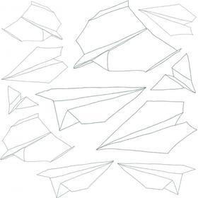 Wallstickers fra Sebra - Papirsflyvere