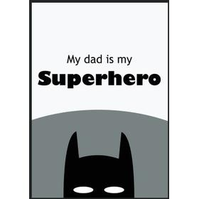Little Loop Design Dad Superhero 30x40cm