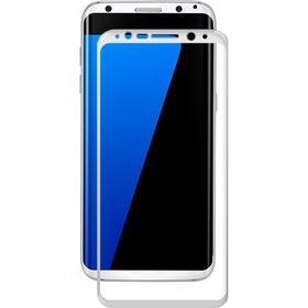 AMORUS Heltäckande skärmskydd i härdat glas för Samsung S8 - vit