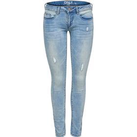Only Coral Superlow Skinny Fit Jeans Blue/Medium Blue Denim