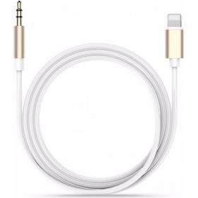 iPhone 7 Lightning till AUX 3.5mm Ljudkabel 1m - Guld