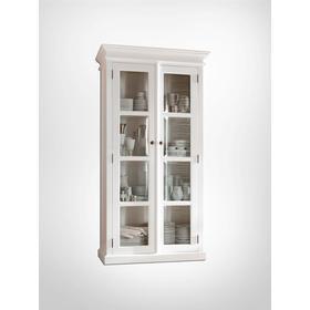 Nova Solo White Glass Cabinet
