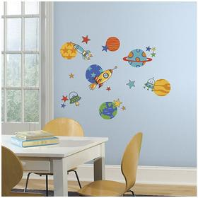 RoomMates Planets & Rockets Wall Decals