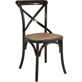 Vintage, Stol 2-P Svartpatinerad Björk