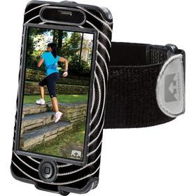 Nathan Sonic Boom iPhone 4/4S Black/Black 2013  Mobilfodral