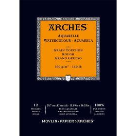 Arches Akvarellblock Limmad Grov gräng Arches 300g