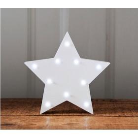 Up In Lights Stjärna i Trä Nattlampa